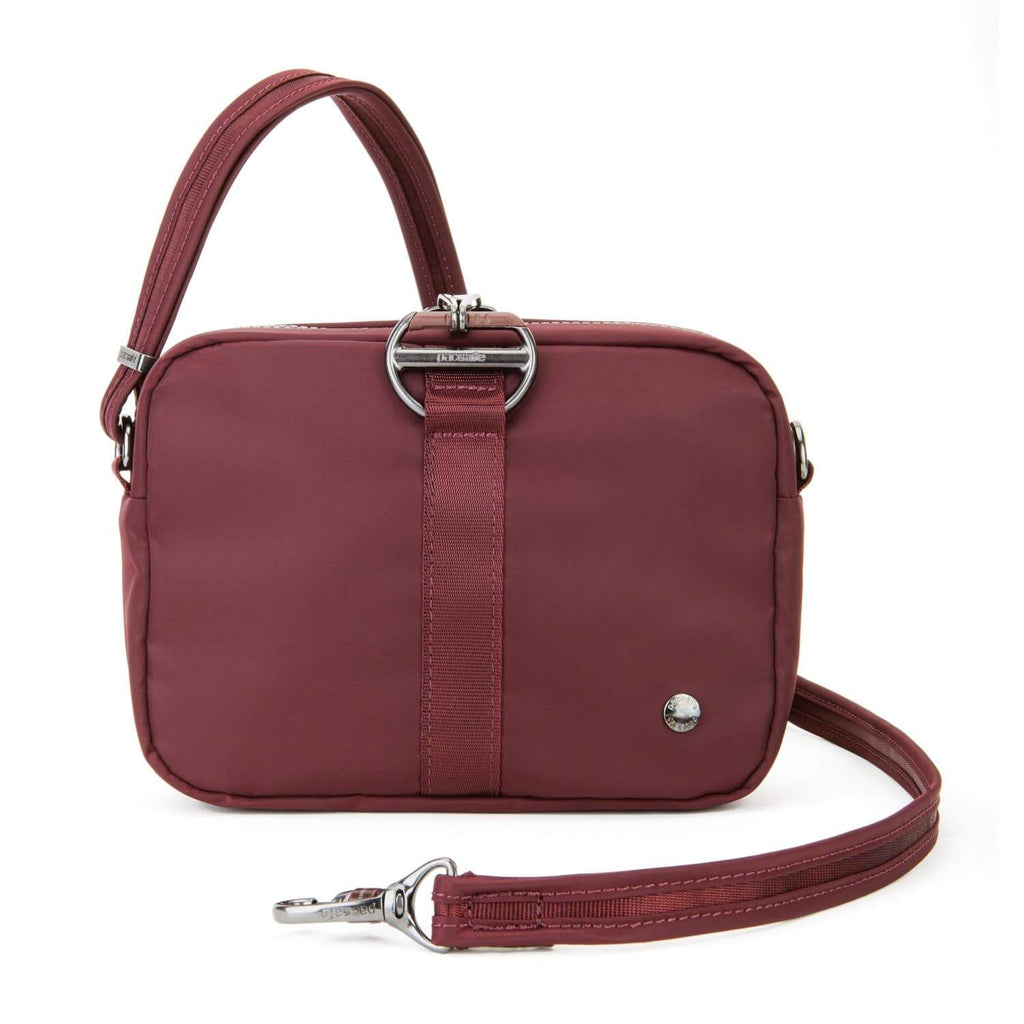 Citysafe CX Anti-Theft Square Crossbody, Merlot