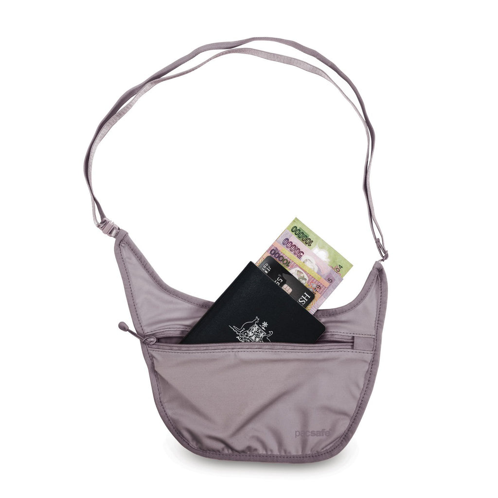 Coversafe S80 Secret Travel Body Pouch, Mauve Shadow