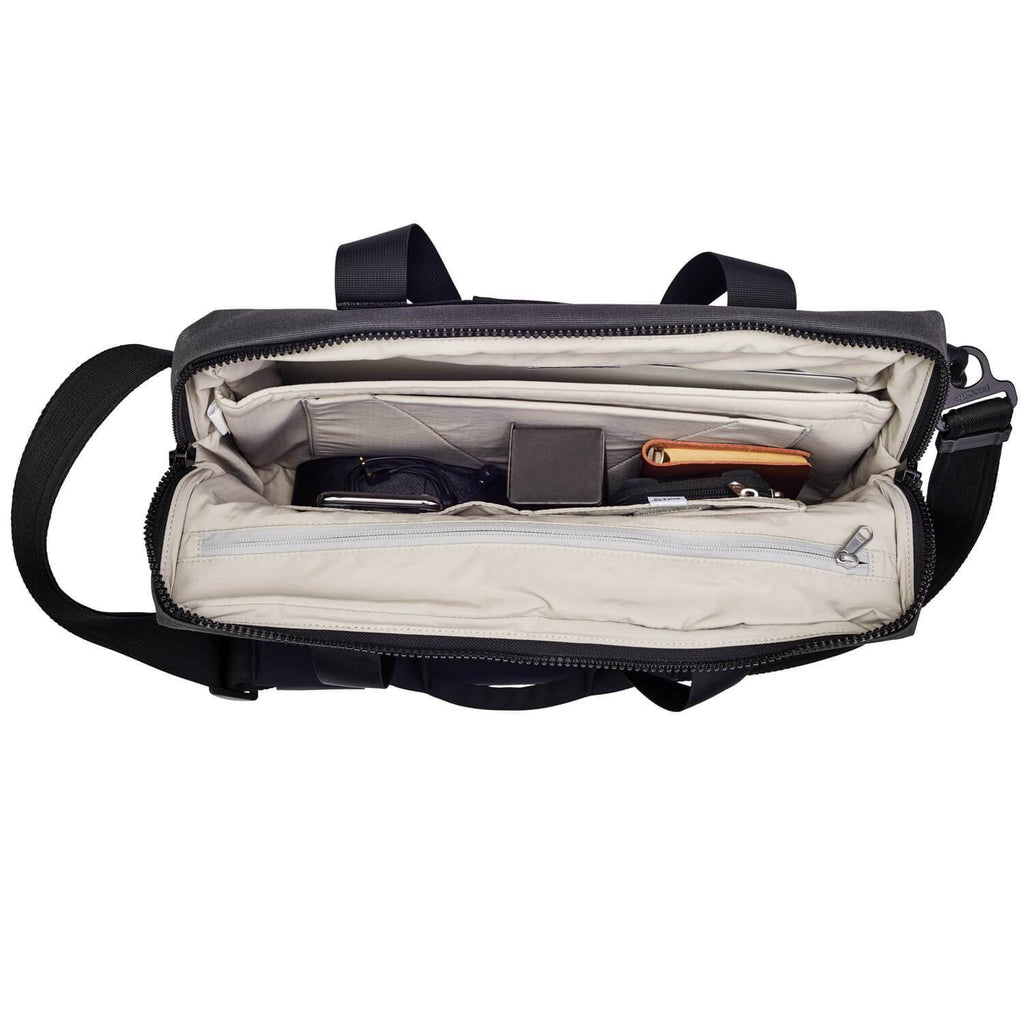 "Intasafe Anti-Theft 15"" Laptop Slim Brief, Charcoal"