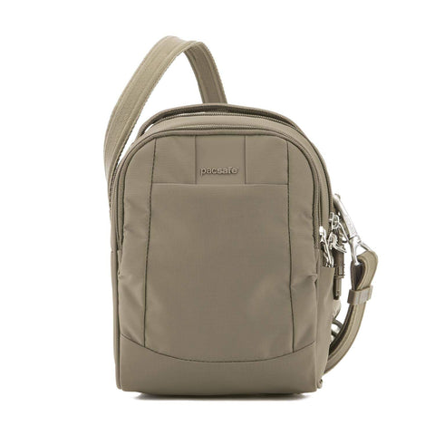 Metrosafe LS100 Anti-Theft Crossbody Bag, Earth Khaki
