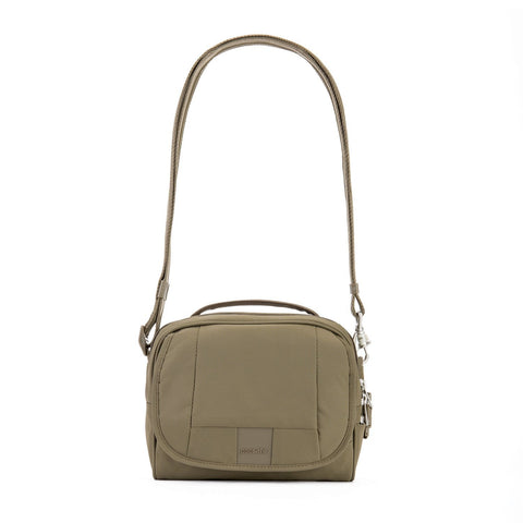 Metrosafe LS140 Anti-Theft Compact Shoulder Bag, Earth Khaki