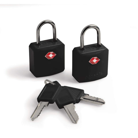 Prosafe 620 TSA Key Luggage Padlocks, Black