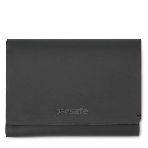 RFIDsafe TEC RFID Blocking Slim Trifold Wallet, Black