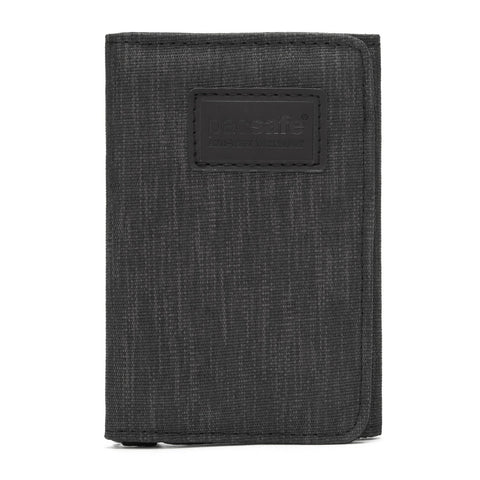 RFIDsafe RFID Blocking Trifold Wallet, Carbon