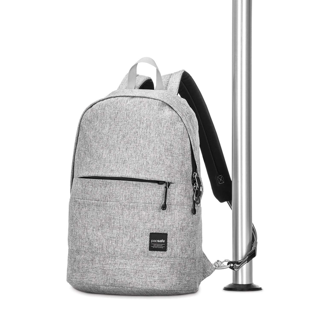 Slingsafe LX300 Anti-Theft Backpack, Tweed Gray