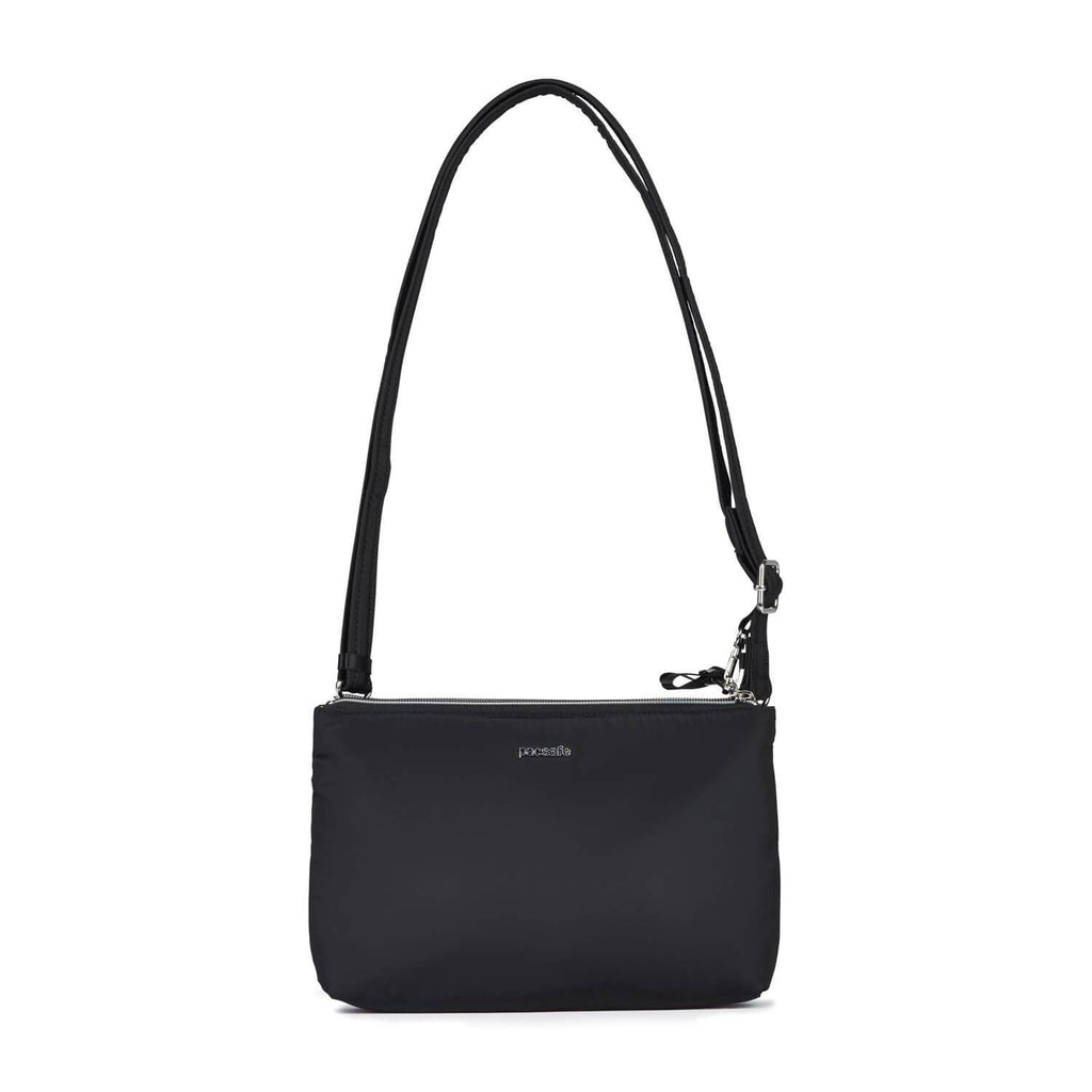 Stylesafe Anti-Theft Double Zip Crossbody Bag, Black