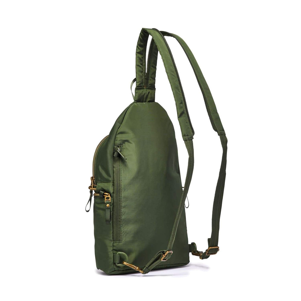Stylesafe Anti-Theft Convertible Sling To Backpack, Kombu Green