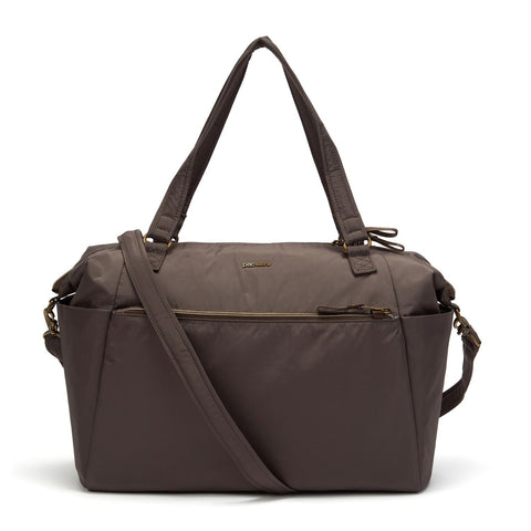 Stylesafe Anti-Theft Tote Bag, Mocha