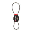 TSA 3-Dial Double Cable Lock, Black