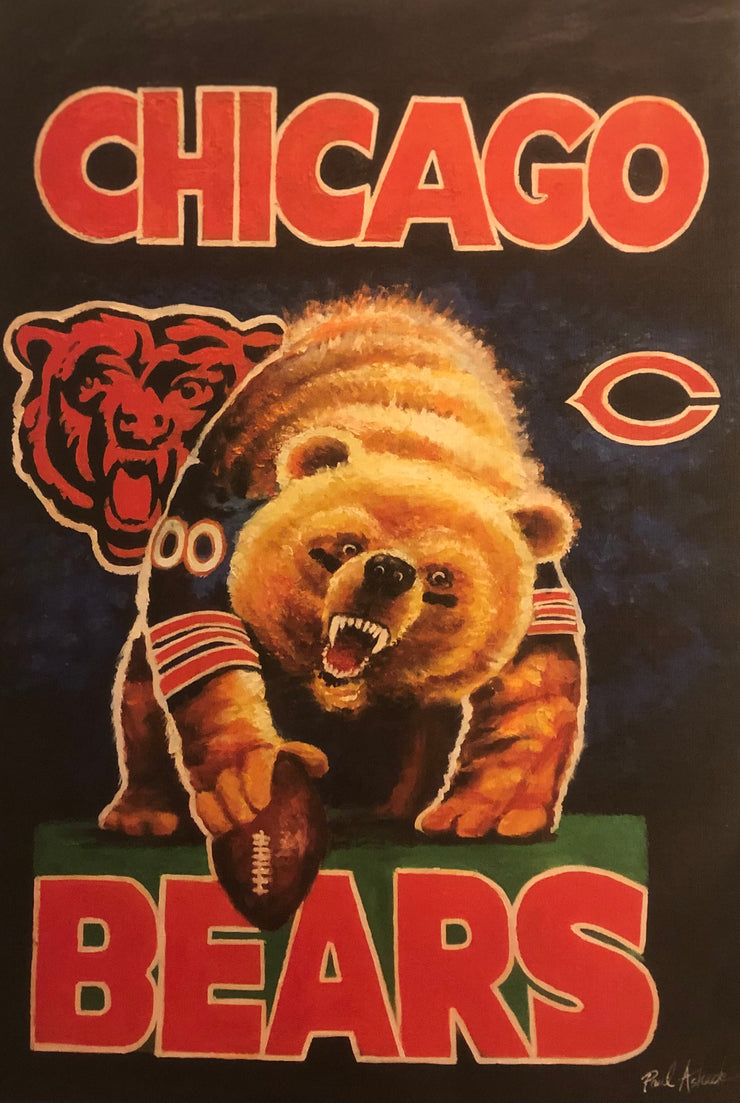 chicago bears prints for sale, chicago bears, Chicago bears art for sale, prints, oil, canvas, Chicago sports art for sale, chicago prints for sale