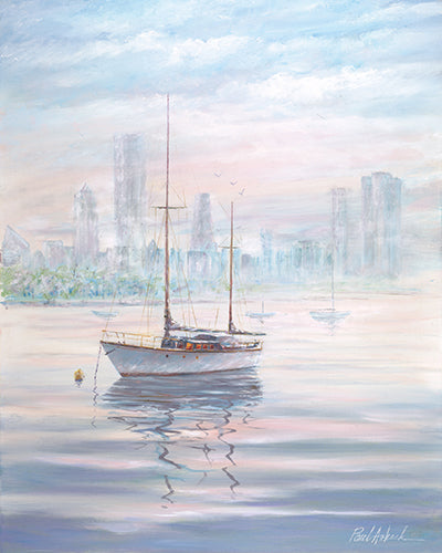 Chicago Lakefront Sailboat Print