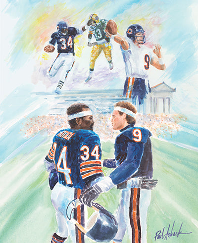 Walter Payton & Jim McMahon Watercolor Print