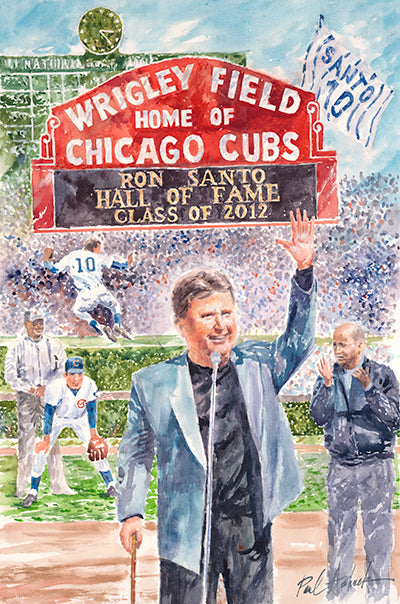 Ron Santo Watercolor Print