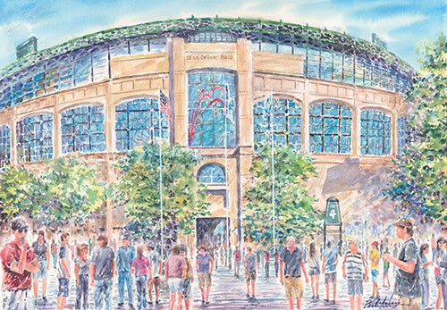 U.S. Cellular Field Watercolor Print