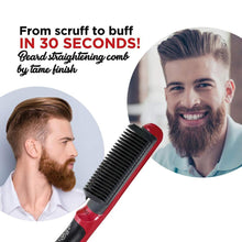 Load image into Gallery viewer, Multifunctional Beard Straightener Styler Brush Men Heat Hair Ceramic Curler Electric Straightener Hot Comb Hair Care Machine