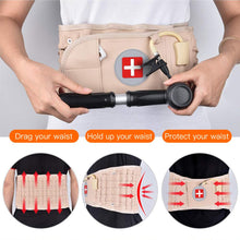 Load image into Gallery viewer, Waist Air Traction Brace Belt Spinal lumbar Support Back Relief Belt Backach Pain Release Massager Unisex Physio Decompression