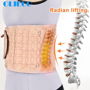 Waist Air Traction Brace Belt Spinal lumbar Support Back Relief Belt Backach Pain Release Massager Unisex Physio Decompression