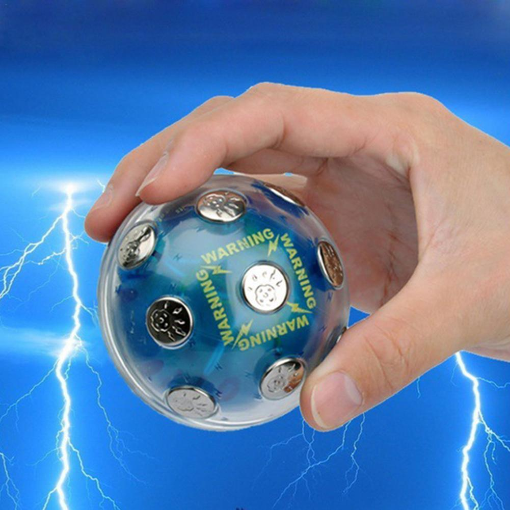 Safe Electric Shocking Ball Novelty Toy X'mas Party Game Shock Glowing Ball Stress Relief Auto off Fun Prank Trick magnetic ball