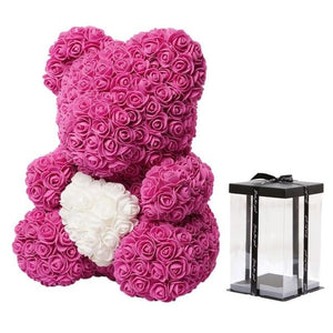Artificial Soap Teddy Bear Rose Flower