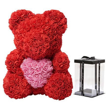 Load image into Gallery viewer, Artificial Soap Teddy Bear Rose Flower
