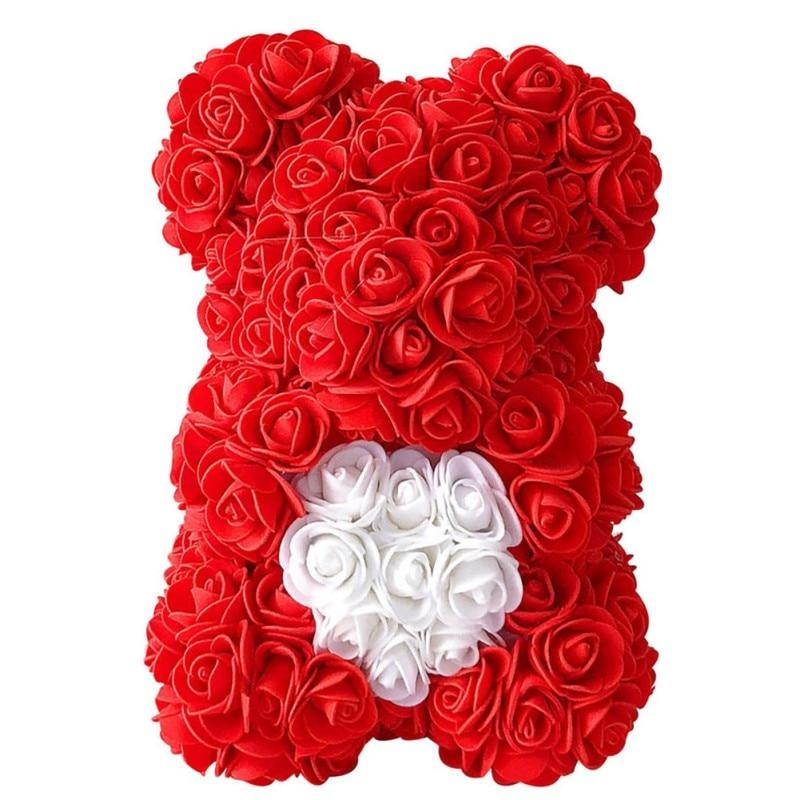 Artificial Waterproof Teddy Bear Rose Flower