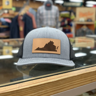 VA LEATHER PATCH HAT GREY