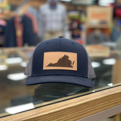 VA LEATHER PATCH HAT NAVY