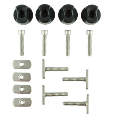 "GearTrac Hardware Assortment Kit, Includes 4 each of: 1.5"" MightyBolts, Threaded Knobs, Convertible Knobs, Track Nuts, Socket head cap screws"