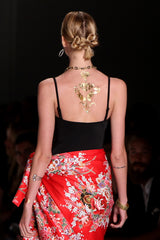Gold Metallic Tattoo, NYFW, Malan Breton