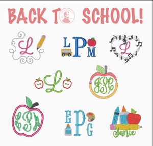 Monogram with MINI image samples