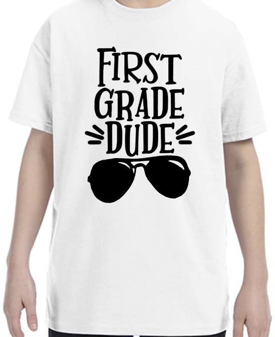 First Grade Dude with Sunglasses