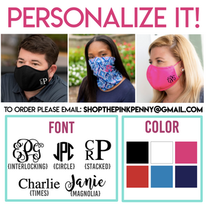 ADULT personalized Masks
