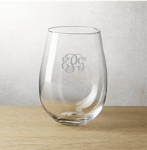 Personalzied Etched Glassware {SET OF 3 PRICING}