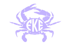 Load image into Gallery viewer, Crab Monogram outdoor decal
