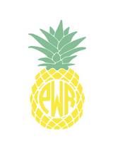 Load image into Gallery viewer, Personalized Monogrammed Pineapple outdoor decal