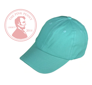 """Mint""-  Monogramed Hat"