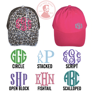 """Purple""-  Monogramed Hat"