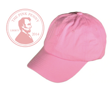"Load image into Gallery viewer, ""Light Pink""-  Monogramed Hat"