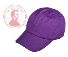 "Load image into Gallery viewer, ""Purple""-  Monogramed Hat"