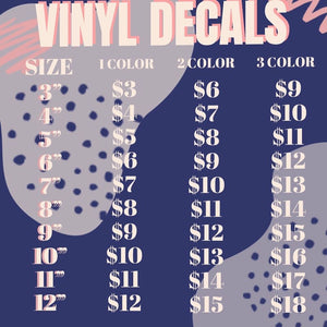 Custom Vinyl Decal Pricing