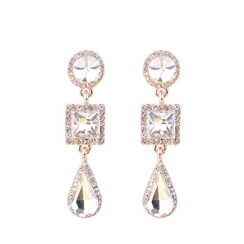 Reign Crystal Earrings - Nicholls Jewellery