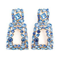 Load image into Gallery viewer, Verona Bright Blue Earrings