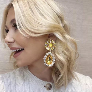 Polly Flower Yellow Earrings - Nicholls Jewellery