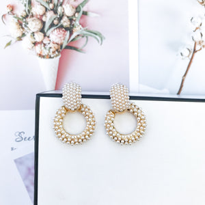 Lacy Pearl Hoop Earrings - Nicholls Jewellery