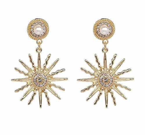 Soleil Gold Earrings - Nicholls Jewellery