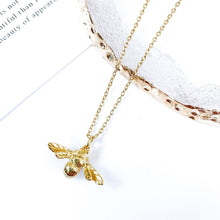 Load image into Gallery viewer, Bee Gold Necklace