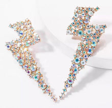 Load image into Gallery viewer, Lightening Bolt AB Earrings - Nicholls Jewellery