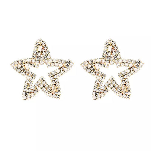 Gold Star Earrings - Nicholls Jewellery