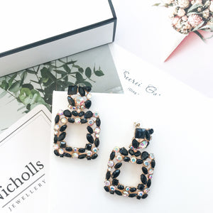 Valencia Black Earrings - Nicholls Jewellery