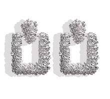 Load image into Gallery viewer, Luxe Silver Square Earrings - Nicholls Jewellery